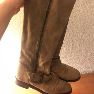 Steve Madden tan leather boots (below the knee)